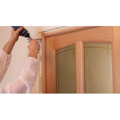 Как вставить стекло в межкомнатную дверь