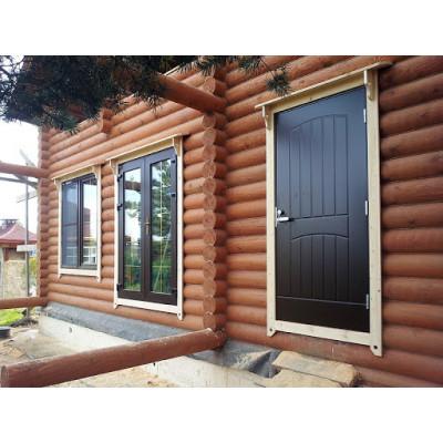 Как установить металлическую дверь в деревянном доме
