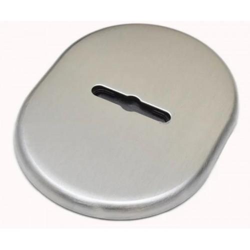 Накладка под сувальдный ключ DiSec KT090 MATRIX OVAL хром матовый (Италия)