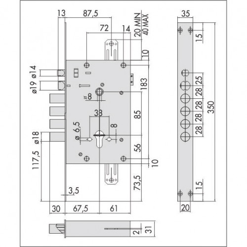 Cisa 15.535 электромеханический цилиндровый