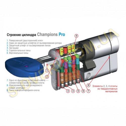 Цилиндр MOTTURA CHAMPIONS PRO ключ/шток